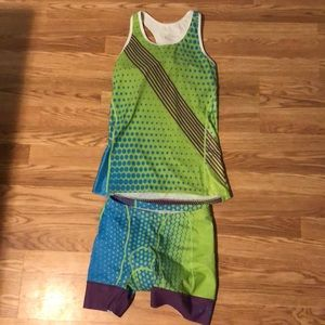 UGO triathlon tank and shorts
